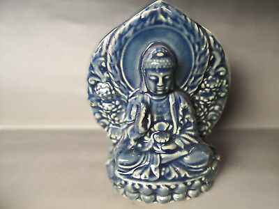 Chinese Old porcelain Blue glazed Porcelain Buddha