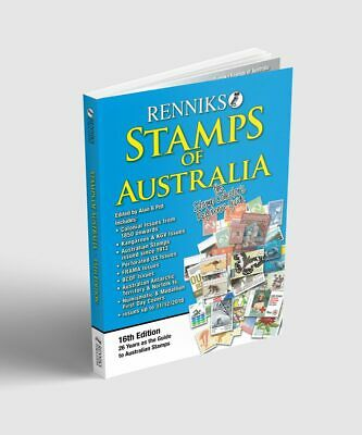 NEW! Renniks Stamps of Australia 16th Edition in Colour, latest issues & prices!