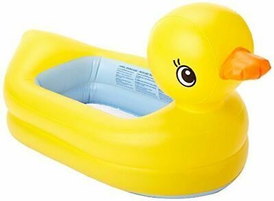 BNIB Munchkin White Hot Inflatable Yellow Duck Tub Safety Bath Transition 6-24m