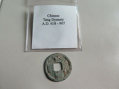 618-907 AD CHINESE TANG Dynasty OLD Genuine Antique Coin (#50)