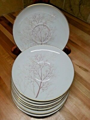"Rosenthal Bramble 3092 Aida Selb Germany Set Of 8 (Eight) 6"" Saucers."