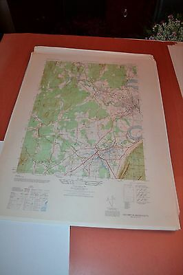 1940's Army (like USGS) topographic map EastHampton Massachusetts -6468 I SW