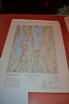 1940's Army (like USGS) topographic map Winsor Dam Massachusetts -6568 IV SE