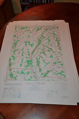 1940's Army topographic map Attica New York -Sheet 5369 IV SE