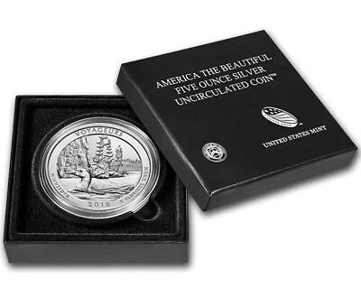 2018 P Voyageurs America The Beautiful ATB 5 oz .999 Fine Silver Coin