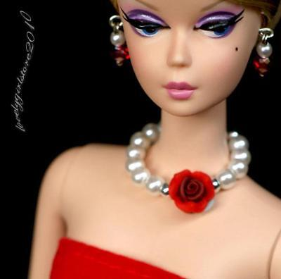 """Handmade doll jewelry necklace earrings for Barbie doll and 11.5/"""" dolls 857A"""