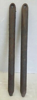 "Lot of 2 Vintage Cast Iron Window Weights 11 Pounds Each 23"" L X 1-3/4"" Dia."