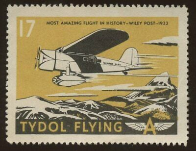 Tydol Flying~Cinderella Stamp~Wiley Post~NH