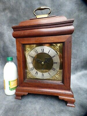 A Fine Mahogany Cased Single Fusee English Bracket Clock With Key