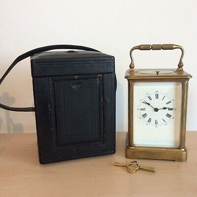 Antique Brass French Repeater Carriage Clock.Working Beautifully.