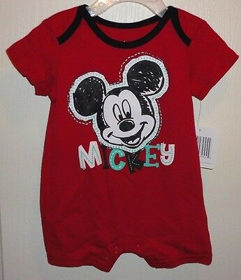 Brand New Disney Baby Mickey Mouse Snapbottom Romper Bodysuit size 3-6 months