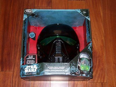 New Star Wars Rogue One Imperial Death Trooper Lights & Voice Changing Mask 3+