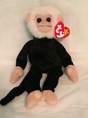 TY Beanie Baby - MOOCH the Monkey- Pristine with Mint Tags - RETIRED