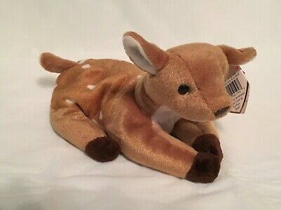 TY Beanie Baby - WHISPER the Baby Fawn - Pristine with Mint Tags - RETIRED