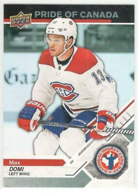 2019 Upper Deck  National Hockey Card Day Canada Pride Of Canada Max Domi