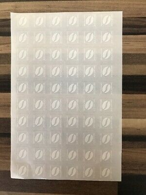 60 Mcdonalds coffee stickers - 10 hot drinks