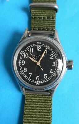 Bulova Military Type A-11 Cal 10Akc 15 Jewel With Hack Men's Watch