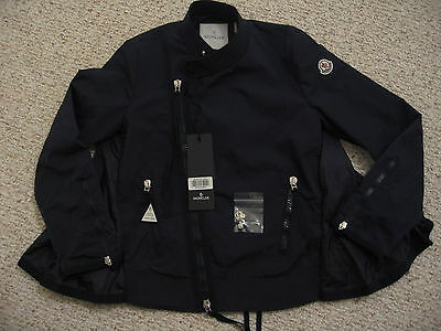 16ef2f0ad MONCLER -BARNEYS NEW York- Hachi F Womens moto jacket coat-NWT-in Navy-Size  3