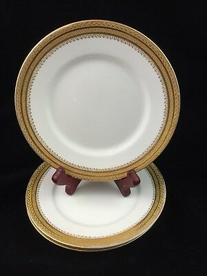 "Set of 3 William Guerin Limoges France 6"" Plates, WG & Co Signed Made for Gimbel"