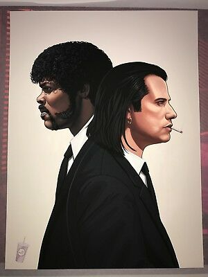 The Hitmen - Pulp Fiction By Mike Mitchell Jules and Vincent - Mondo Limited S/N