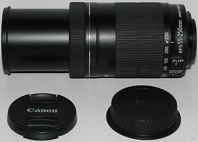 Canon EF-S 55-250mm f/4-5.6 IS STM lens [excellent condition]