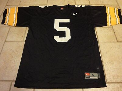 half off f0481 77ff2 NIKE AUTHENTIC IOWA Hawkeyes #5 College Football Jersey Mens Large nice