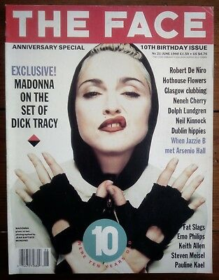 The Face Magazine 21, June 1990, Madonna, Fat Slags, 10 Year Ann,great Condition