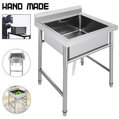 Commercial Stainless Steel Kitchen Utility Sink - 30 wide Handmade