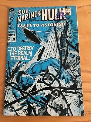 Tales To Astonish Sub-Mariner And The Incredible Hulk #98 Dec 1967 Cents Copy
