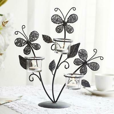 Iron Butterfly Candle Holders