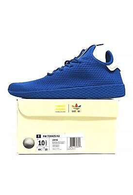 7385abc87c91d Adidas Pharrell PW Tennis HU Mens CP9766 Blue Mesh Athletic Shoes Size 10.5