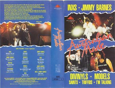 """Australian Made """"live In Concert"""" Vhs Pal Video A Rare Find Inxs Jimmy Barnes"""