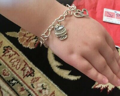 089401419d792 JAMES AVERY HEART Link Sterling Charm Bracelet with Hearts & Birthday Charms