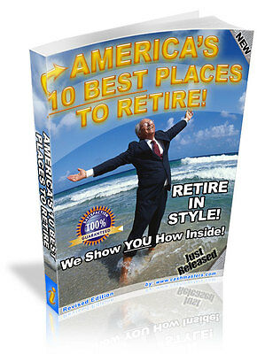 America's 10 Best Places To Retire! Pdf Ebook Free Shipping Resale Rights