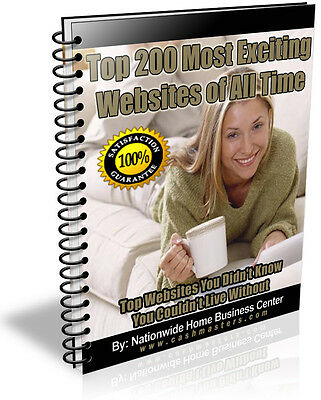 Top 200 Most Exciting Websites Of All Time Pdf Ebook Free Shipping Resale Rights