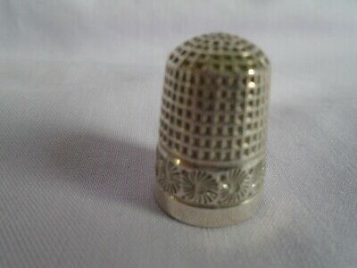 Solid Silver Thimble Charles Horner Chester 1897