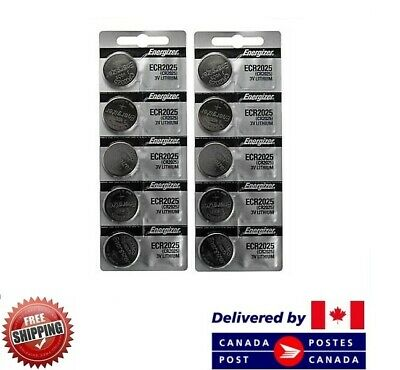 10 PCS ENERGIZER CR 2025 Watch Batteries CR2025 3V LITHIUM CDN SELLER
