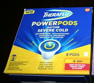 THERAFLU PowerPods Power Pods Daytime Severe Cold - One Box of Eight (8) Pods