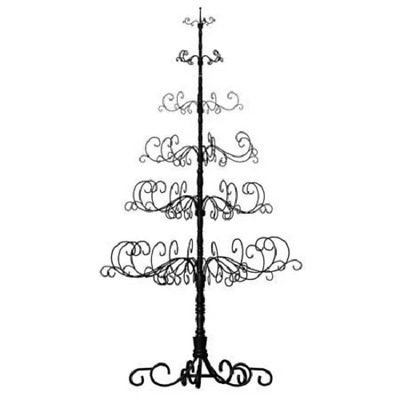 Christmas Tree Display Stand.Wrought Iron Christmas Tree Ornament Display Stand All Holiday Season Metal Rod