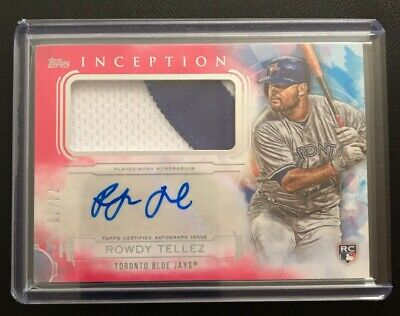 2019 Topps Inception #IAP-RT Rowdy Tellez RC Patch Auto 74/75 Toronto Blue Jays