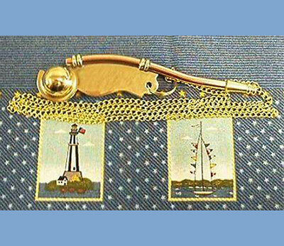 Boatswain Call Whistle - Bosun Call - Brass/Copper - New