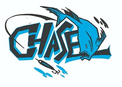 CHASE LURES STICKER Fishing Reel Hook Bait Tackle Box Decal Mechanic  Toolbox Usa