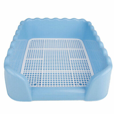US Pet Dog Puppy Potty Training Fence Tray Pad Pee Toilet Easy Clean House L