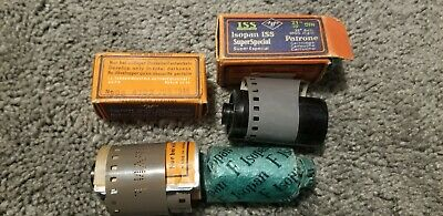 LOT OF 5 Agfa Isopan ISS 1945 MADE IN GERMANY FILM ZEISS IKON ISOPAN F ROLLS