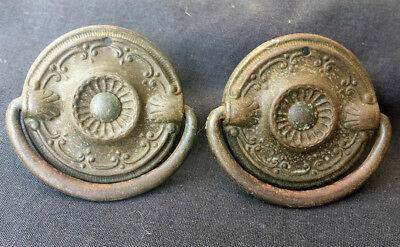 2 availble Pair Antique Vintage Hepplewhite Dresser Drawer Furniture Pull Handle