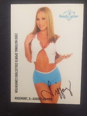 2002 BENCHWARMER Tiffany Richards 23rd National Sport Convention Promo AUTOGRAPH