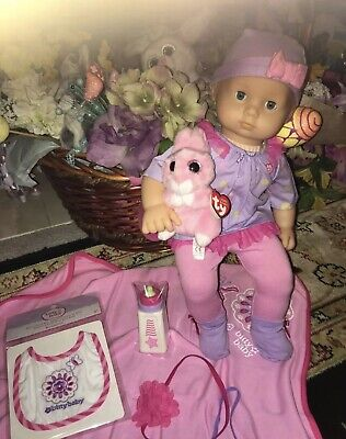 New! American Girl Bitty Baby New Butterfly Set & Doll Blond Blue