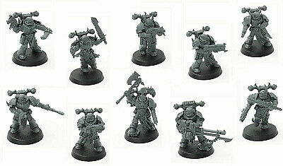 10x Chaos Space Marines + Daemonkin Codex from Shadowspear Warhammer 40k New