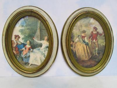 Two Florentine Oval-Shaped Gold Gilded Picture Frames