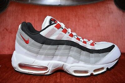 d3d8ad8732 2010 NIKE AIR MAX 95 WHITE COMET RED COOL GREY BLACK DAY 90 609048-100